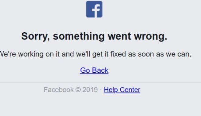 Foto: Facebook, anunţ de interes public după ce ieri a fost nefuncţională