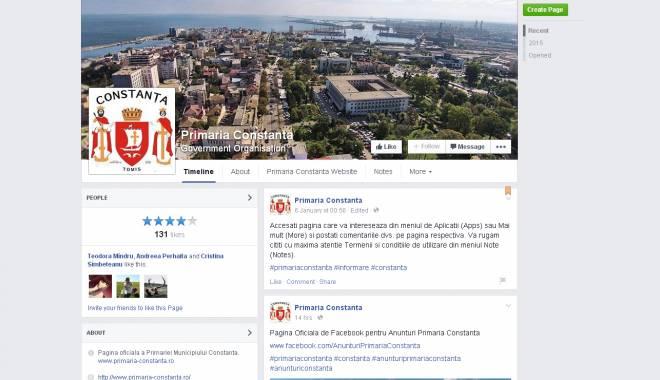 Foto: Primăria Constanţa şi-a lansat pagina de Facebook