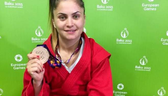 Foto: Farista Daniela Hondiu a câştigat bronzul la sambo, la Baku