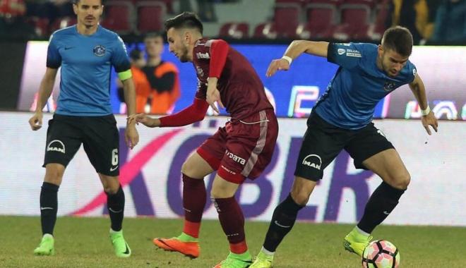 """Foto: FC Viitorul, avans minim în faţa Stelei, în play-off. Hagi: """"Am muncit de pomană!"""""""