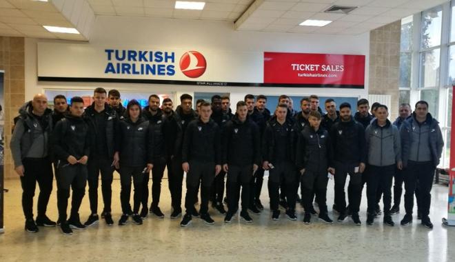 Foto: FC Viitorul a plecat în cantonament, în Turcia