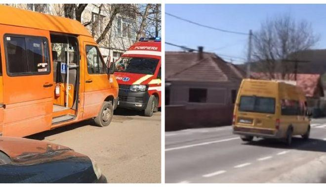 Foto: Şoferul microbuzului din care o elevă de 12 ani a căzut şi a murit a fost reţinut