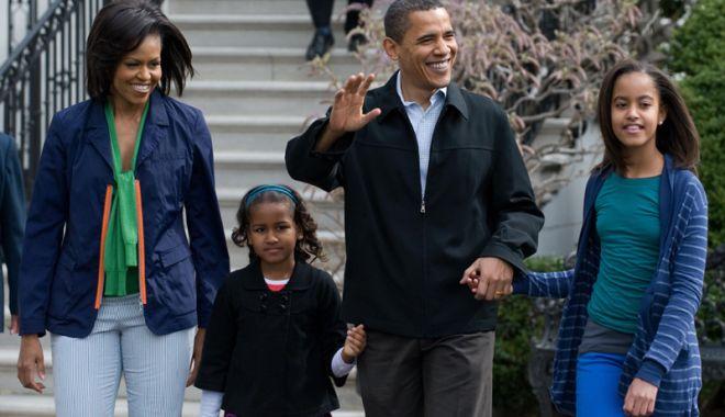 Foto: Fiicele cuplului Obama, concepute  cu ajutorul fertilizării in vitro