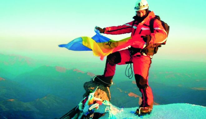 Foto: Filip Bacalu, primul român care a atins vârful Elbrus urmând Ruta Nordică