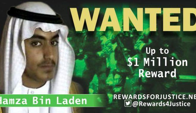 Foto: SUA oferă o recompensă de 1 milion de dolari pentru informații despre fiul preferat al lui Osama Bin Laden