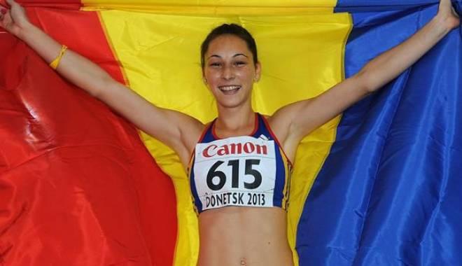 Foto: Florentina Marincu, medaliată cu bronz la săritura în lungime