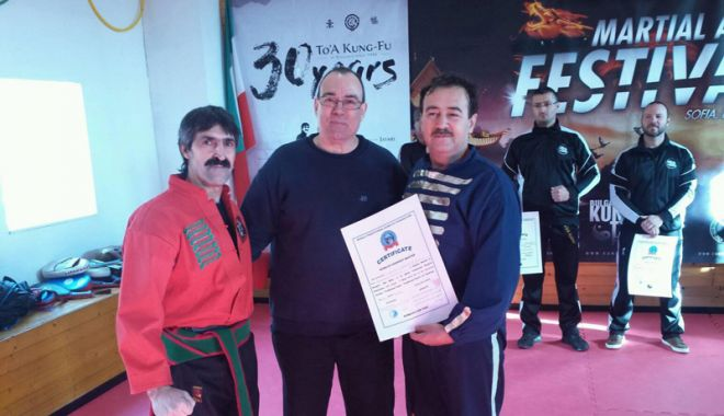 Foto: Florin Iordănoaia, ales în comitetul de conducere al Federaţiei Mondiale de Kung-Fu