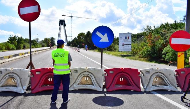Foto: Podul Agigea, închis pentru trei săptămâni: