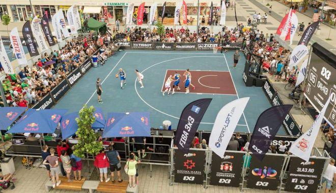 """Foto: BC Athletic şi CS Phoenix, luptă pentru medaliile """"naţionalelor"""" de baschet 3x3"""