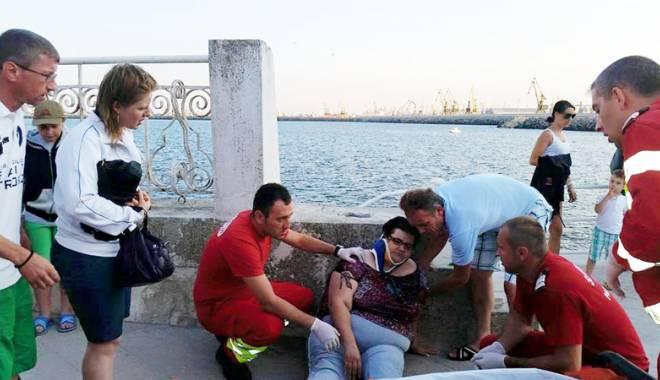 Foto: Cum s-a întâmplat accidentul  de la Cazino. Turista şi-a recunoscut  vina, deşi balustrada avea probleme