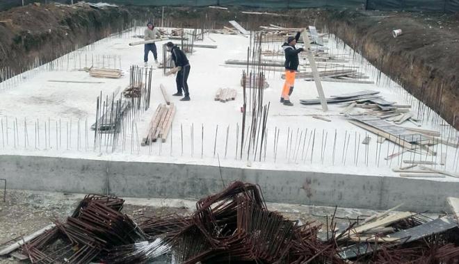 Foto: Colaborare Primăria Mangalia - ANL. A început construcția locuințelor pentru medici
