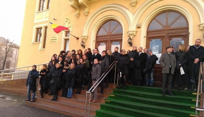 Protest al magistraţilor, la Constanţa.
