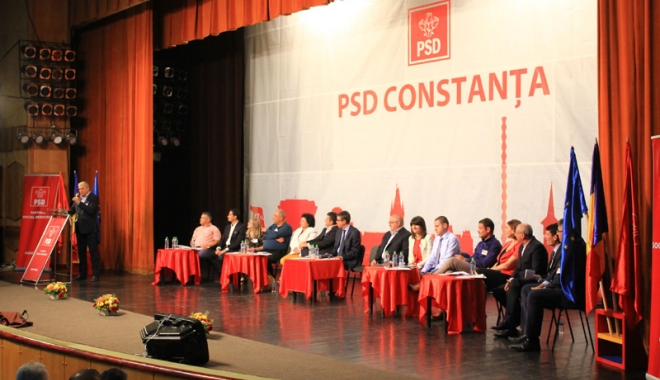 """Foto: PSD Constanţa, prima reacţie  după proteste: """"Îl sprijinim necondţionat pe Liviu Dragnea"""""""