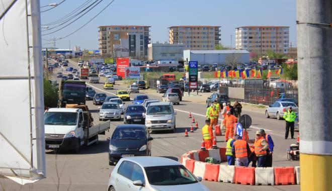 Foto: Trafic fluidizat! Un nou sens  giratoriu pe bulevardul Aurel Vlaicu