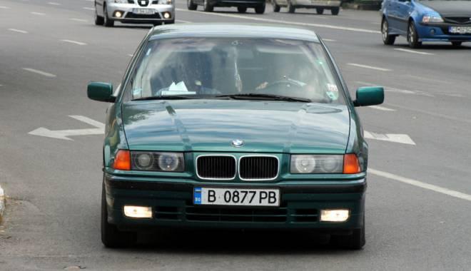 Maşinile cu număr de Bulgaria.