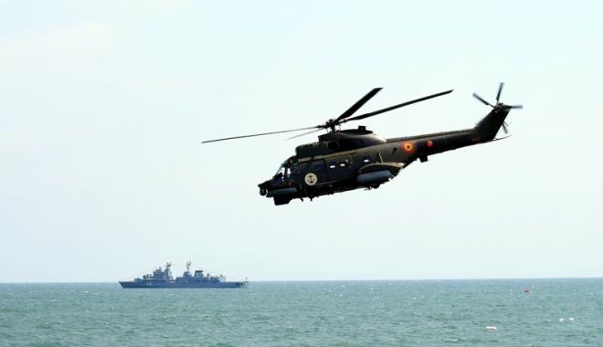 Foto: Forţele Navale Române, exerciţii alături de americani în Marea Neagră