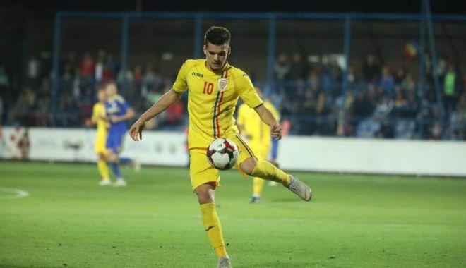 Foto: Ianis Hagi, titular în meciul de deseară, cu Malta