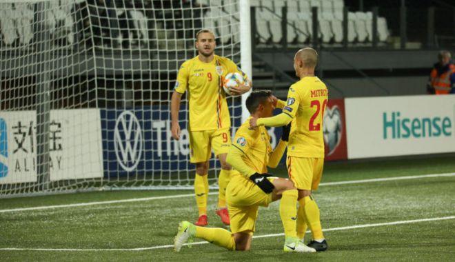 Fotbal, România - Norvegia.