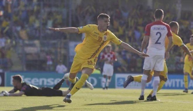 Foto: Ianis Hagi, evoluţie excelentă în victoria cu Croaţia