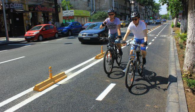 Foto: În sfârșit! Biciclete gratuite, la Constanța. Proiectul Black Sea Bike a devenit funcțional