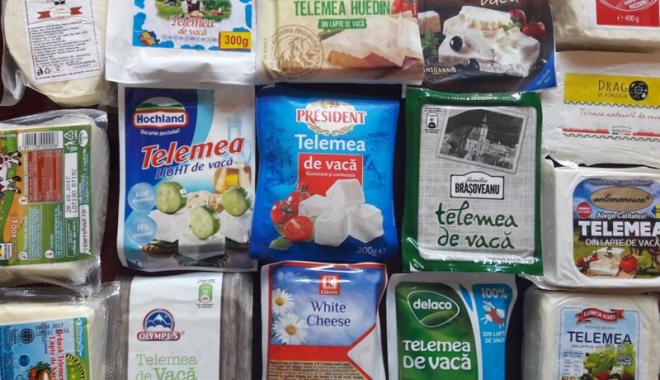 Foto: Brânză cu soluţie de deszăpezit  străzile, în magazinele din Constanţa