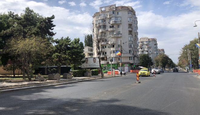 Foto: Constanța, șantier în lucru! Bulevardul Tomis, cu sens unic, de la Dacia la Capitol