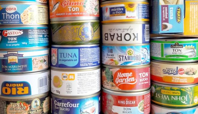 Foto: Mare pericol pentru sănătate! Peşte contaminat în conservele de ton