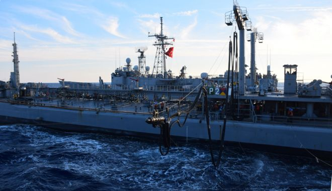 """Foto: Fregata """"Regele Ferdinand"""", misiunea în Marea Mediterană. """"Navigând pe o mare de mândrie"""""""