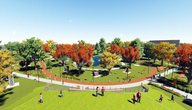 """Foto: Parc de miniaturi în Tăbăcărie.  """"O zonă acum ocolită de oameni, va deveni principalul punct de atracţie al parcului"""""""