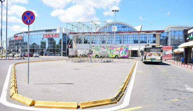 Foto: Sens giratoriu pe bd. 1 Decembrie, zonă pietonală și parcare uriașă, în zona Gării Constanța