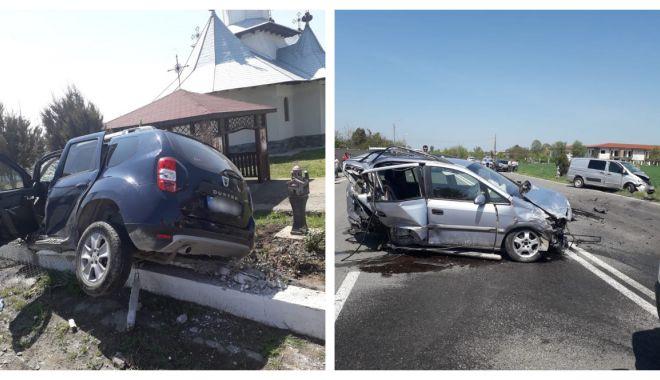 Foto: Galerie foto. Accident cu CINCI victime, la Constanţa, după ce un autoturism a intrat pe contrasens