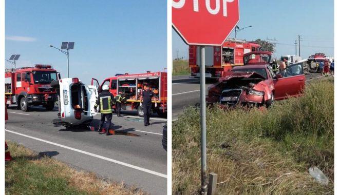 Foto: GALERIE FOTO-VIDEO / Primele imagini de la accidentul teribil din Ovidiu