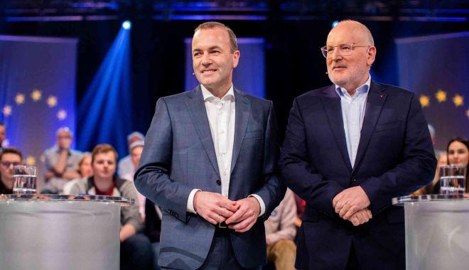 Foto: Frans Timmermans şi Manfred Weber, confruntare la televiziunea publică germană