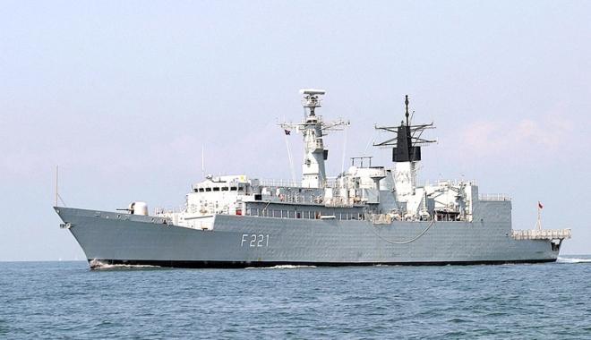 """Foto: Fregata """"Regele Ferdinand"""" reia misiunile NATO după anexarea Crimeei"""