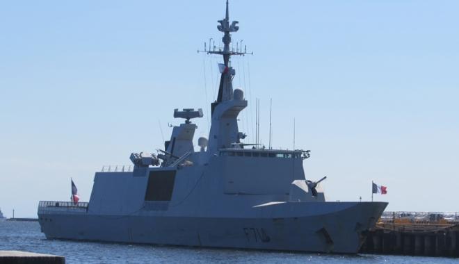 Foto: Fregată franceză,  escală în Portul Constanţa