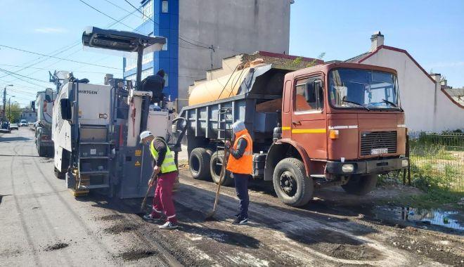 Foto: Lucrările de modernizare a carosabilului se extind în Constanța