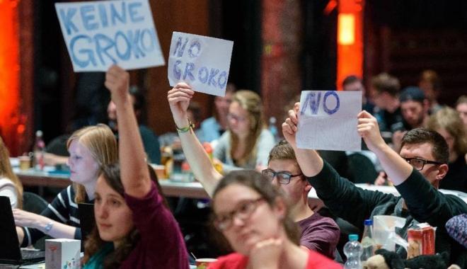 Foto: Frondă  a militanților social-democrați împotriva unei alianțe cu Merkel