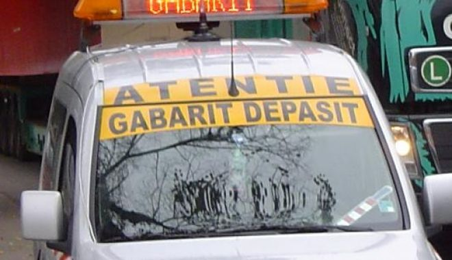 Foto: Transport agabaritic la Constanța! Ce spun reprezentanții CNAIR