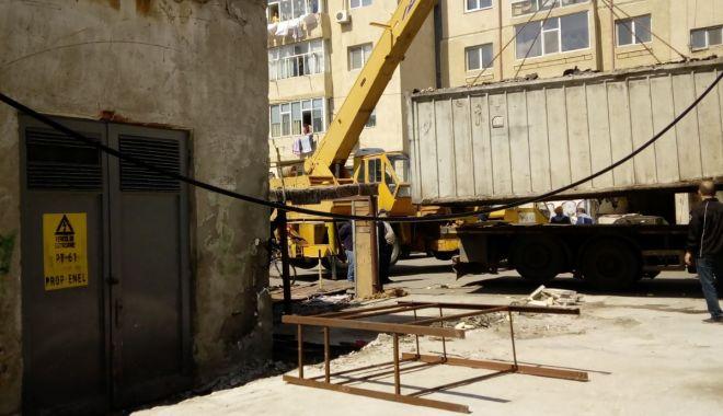 Foto: Garajele amplasate pe domeniul public din Mangalia, dezafectate