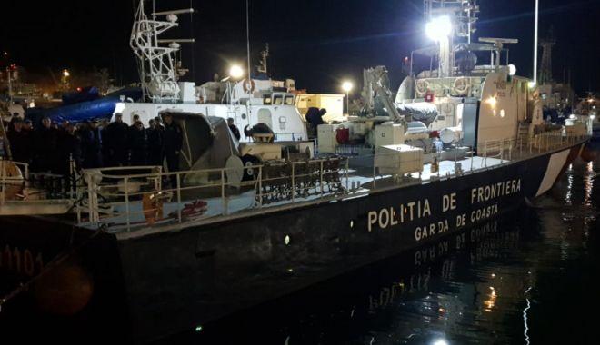 Foto: Misiune importantă pentru Nava MAI 1101 a Poliţiei de Frontieră Române, în Marea Egee