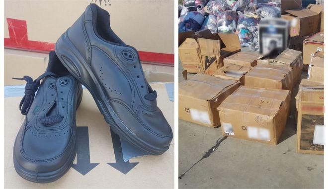 Foto: Pantofi confiscați de polițiștii Gărzii de Coastă