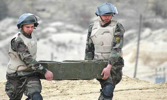 Foto: Alertă SRI! Grenadă activă, găsită într-un colet, pe marginea drumului