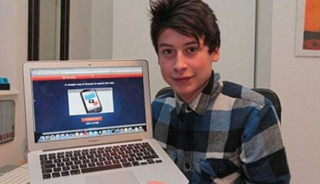 Foto: La 17 ani, considerat următorul Mark Zuckerberg pentru o aplicație inedită