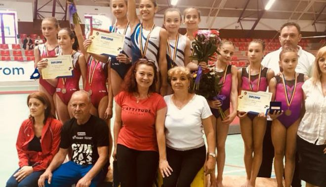 Gimnastele constănţene, performanţe excelente la Naţionalele de juniori - gimnastele2-1528904582.jpg