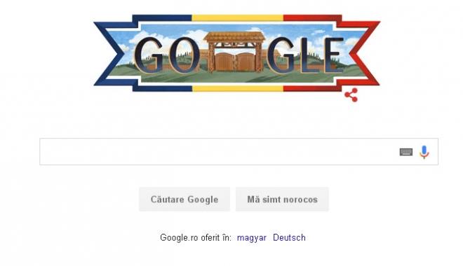 Foto: Ziua Naţională a României, marcată de Google printr-un logo special