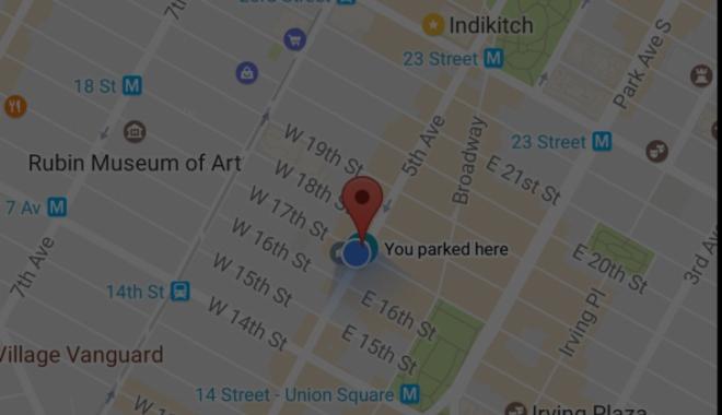 Foto: Veşti grozave pentru şoferi! Google Maps ne spune unde am parcat maşina