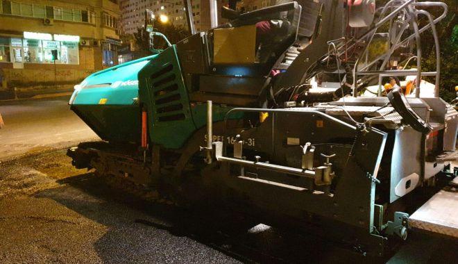 Foto: Şoferi, atenţie! Trafic perturbat la Constanţa, din cauza lucrărilor de asfaltare