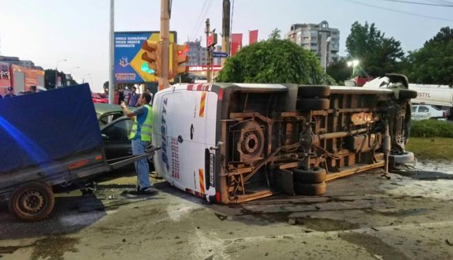 Foto: Grav accident rutier,  la intrarea în Constanţa