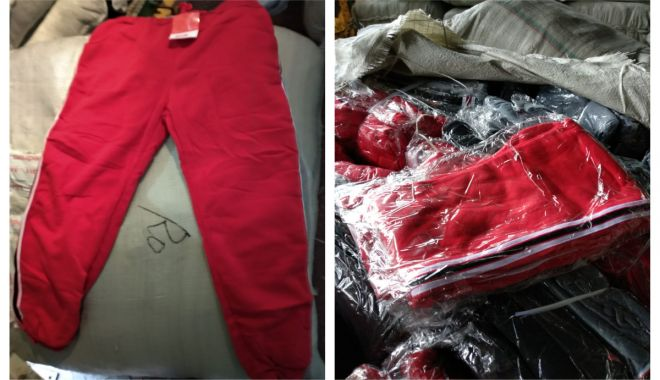 Foto: Haine contrafăcute, descoperite în Portul Constanţa Sud Agigea