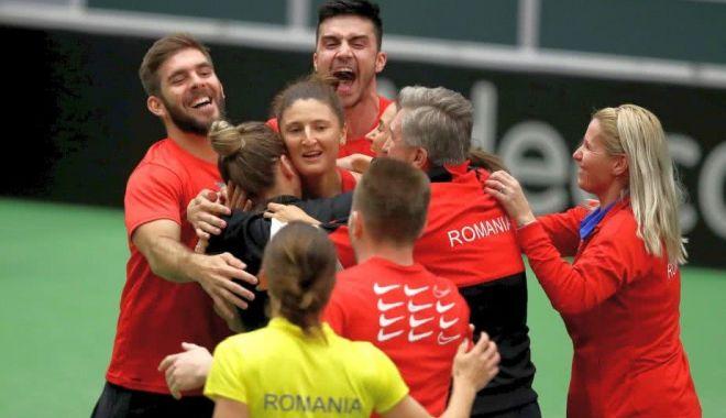 Foto: Tenis / România învinge dramatic Cehia și se califică în semifinalele Fed Cup 2019